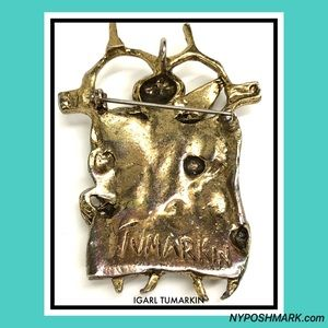 Igael Tumarkin Jewelry - Isralian Igael Tumarkin Modernist Abstract Brooch